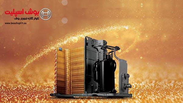 کولر گازی با رادیاتور و کندانسور آبی یا طلایی