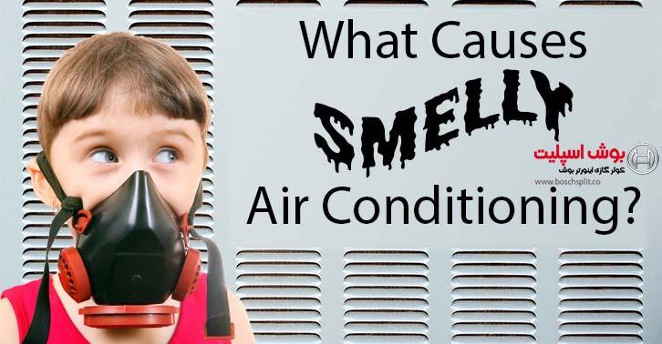 انتشار بوی نامطبوع از پنل کولر گازی موقع استفاده